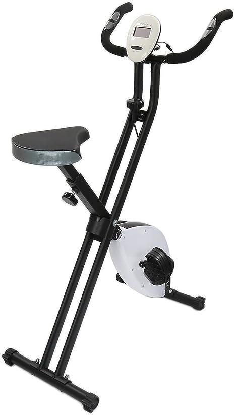 Bicicleta estática, – Pantalla LED (Tiempo Viajes, entrenamiento ...