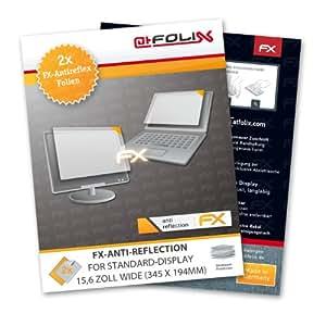 Displayschutz@FoliX - atFoliX Lámina protectora de pantalla FX-Antireflex para Pantalla estándar 15,6 pulgada wide 345 x 194mm (2 uds.) - ¡Protección antirreflejos para la pantalla! Máxima calidad