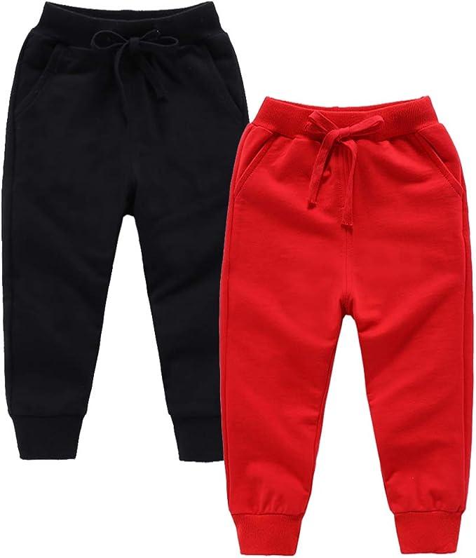 I Love You Children Active Jogger Sweatpants Basic Elastic Sport Pants Black