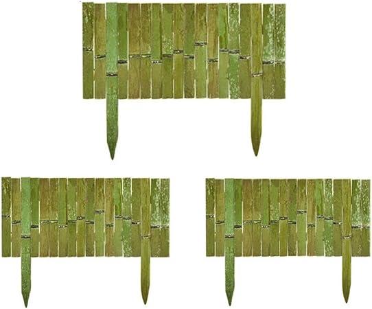 zenggp Cerca De Bambú Cercas Naturales Hechas A Mano Decoración De Jardín Estilo Rural Al Aire Libre,A+3PCS: Amazon.es: Hogar
