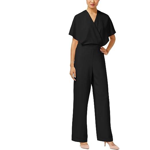 Amazoncom Alfani Womens Cape Back V Neck Jumpsuit Black 8 Clothing