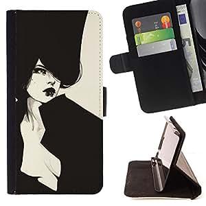 HAUT COUTURE VIGNETTE FASHION SEXY/ Personalizada del estilo del dise???¡Ào de la PU Caso de encargo del cuero del tir????n del soporte d - Cao - For Apple Iphone 6