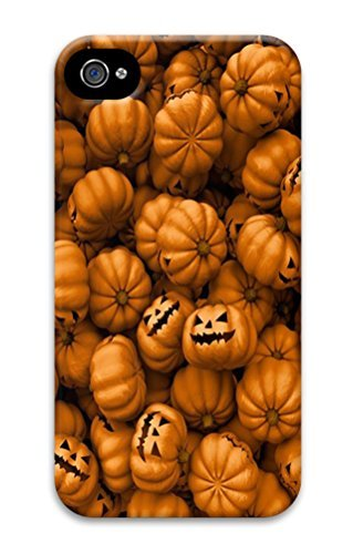 iPhone 4S Cases VUTTOO Halloween Mobile Wallpaper 4 Polycarbonate Hard Case Back Cover for iPhone (Halloween Wallpapers For Iphone 4)