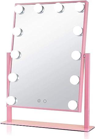 Tshzj Miroir De Courtoisie Eclaire Miroir Maquillage