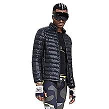 HUKOER Men's Packable Lightweight Warm Down Puffa Jacket Padded Jacket Coat