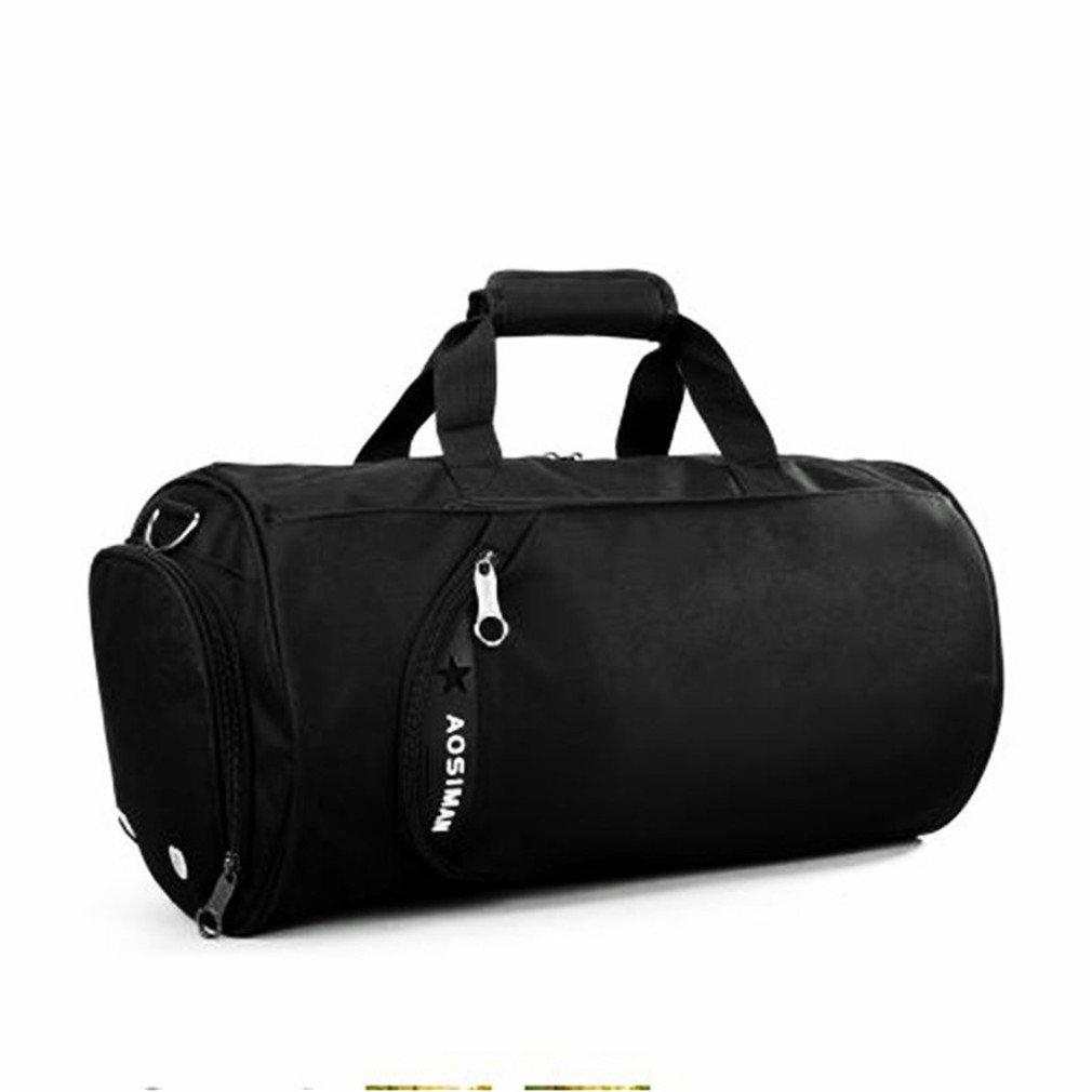 Sport Bag For Women Fitness Bag Men Canvas Football Training Hangbag Travel Single Shoulder Bag Yoga Dance Bags Black