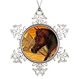Leiacikl22 Unique Designed Christmas Tree Snowflake Ornaments Arabian Horse Halter