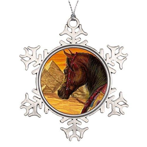 Leiacikl22 Unique Designed Christmas Tree Snowflake Ornaments Arabian Horse Halter by WenNuNa