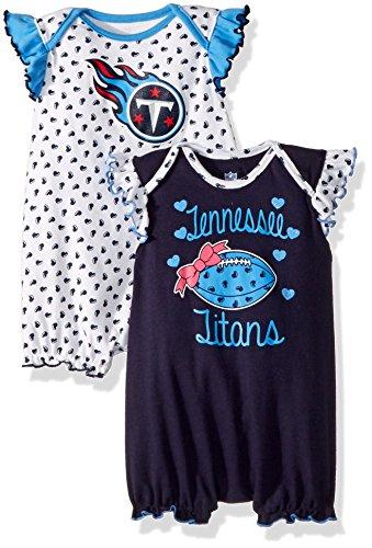 Outerstuff NFL Infant Heart Fan 2 Piece Creeper Set-Dark Navy-24 Months, Tennessee Titans ()