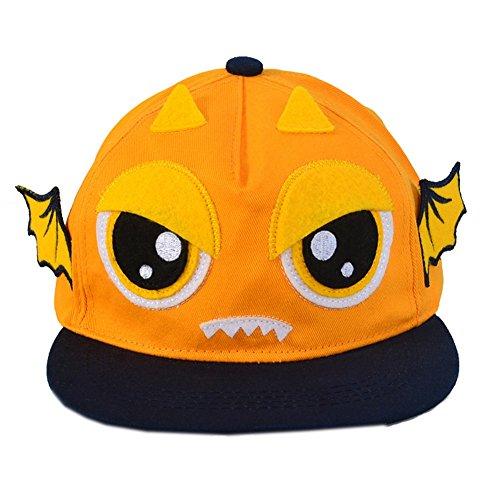 hot sell Fashion Toddler Cap Orange Demon Flat Cap free shipping