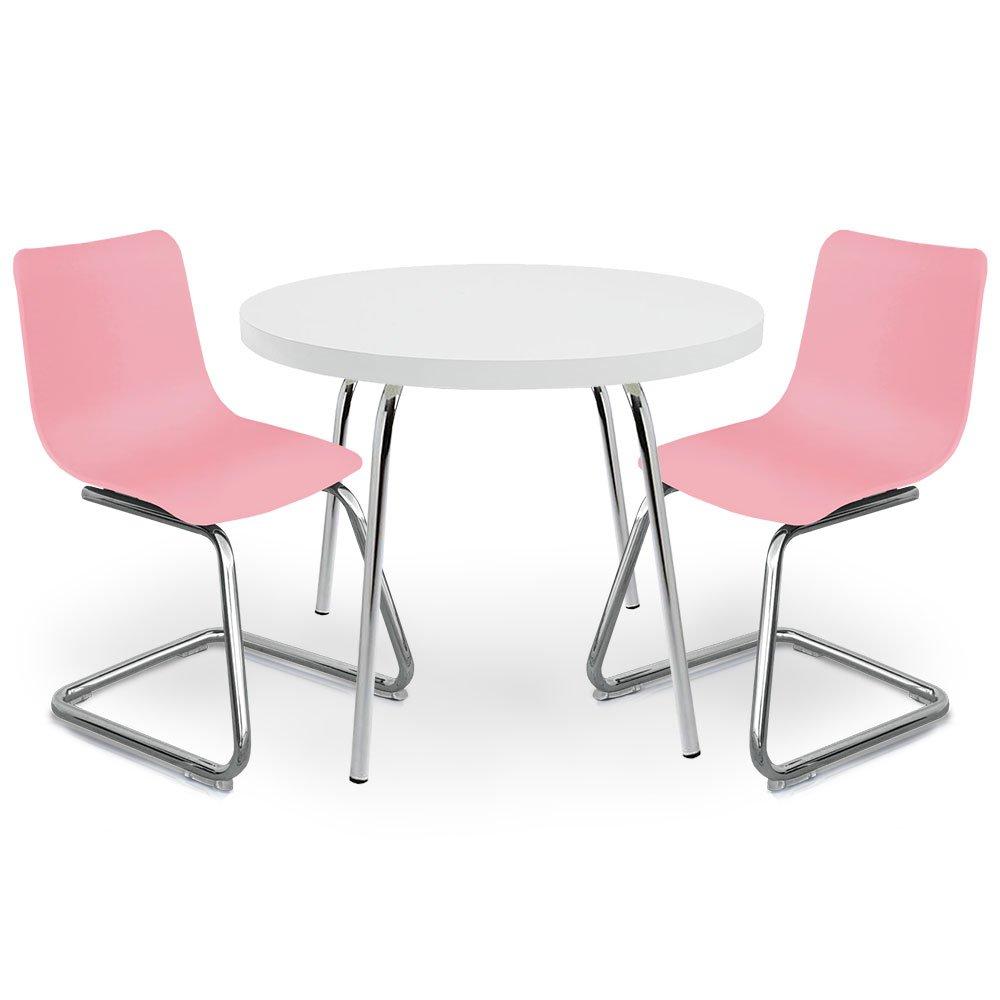 Surprising Pkolino Round Table For Kids And Chairs White Pink Creativecarmelina Interior Chair Design Creativecarmelinacom