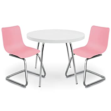 Excellent Pkolino Round Table For Kids And Chairs White Pink Creativecarmelina Interior Chair Design Creativecarmelinacom