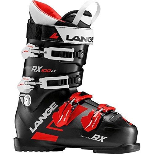 (Lange RX 100 Men's Ski Boots Black/Red, Mens, LBG2100_27.5, Black red, 27.5)