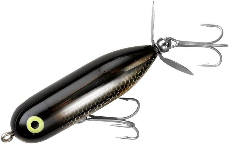 Heddon Tiny Torpedo Topwater Fishing Lure Black Shiner