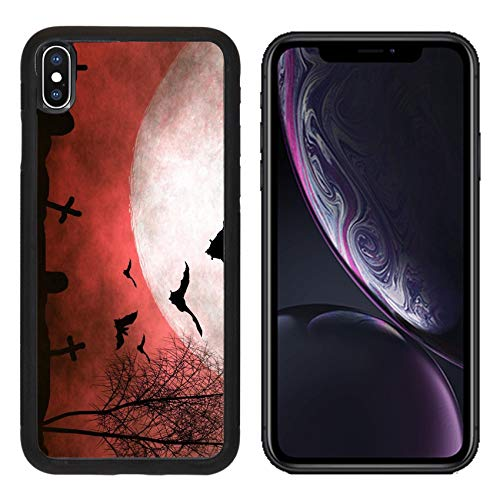 MSD Apple iPhone XR Case Aluminum Backplate Bumper Snap Case Image ID: 10754175 Spooky Halloween Background -