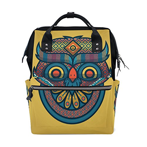 Diaper Bags Backpack Mummy Backpack with Tribal Owl Travel Laptop Daypack by THENAGD