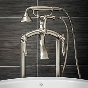 Luxury Clawfoot Tub Or Freestanding Tub Filler Faucet, Vintage Design With  Telephone Style Hand Shower