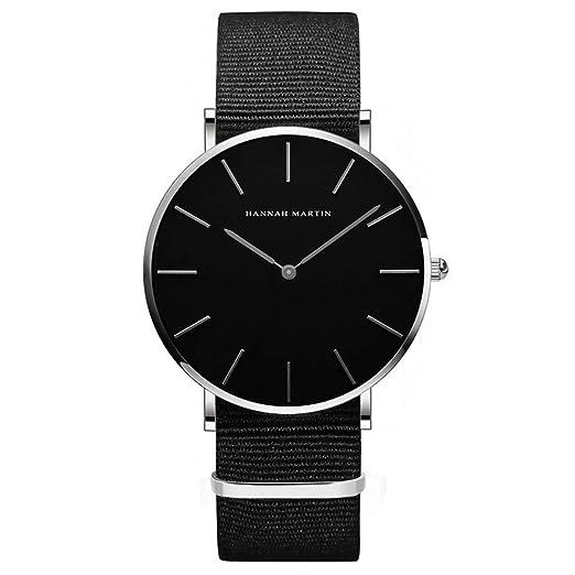 Hombre Relojes, Allskid Estilo Minimalista Cuero de PU Correa de Reloj Negro Marcar Moda Casual