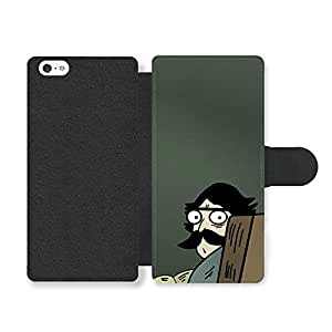Meme Angry Look Face Reading on the Sofa Emoji Faux Leather case for iPhone 5 5S