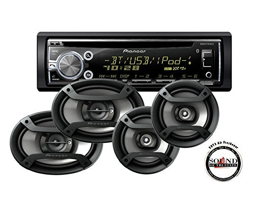 Pioneer DEH-X6800BT Single DIN Bluetooth CD Player with TS-6