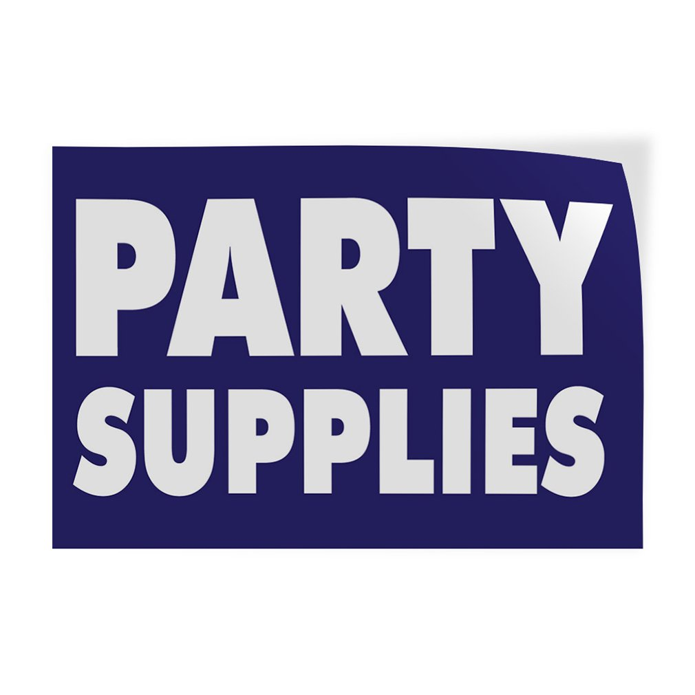 Set of 2 52inx34in Decal Sticker Multiple Sizes Party Supplies #1 Business Party Supplies Outdoor Store Sign Purple
