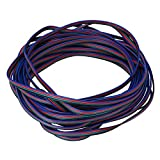 4 Color 33ft 22awg RGB Extension Cable Line for LED