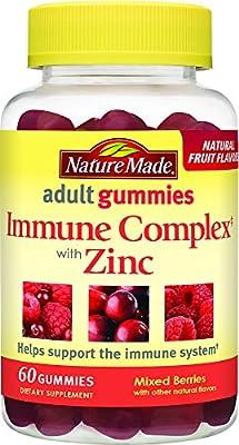 Nature Made Immune Complex with Zinc Adult Gummies w. Vitamins A, C, D, E, & Zinc 60 Ct.