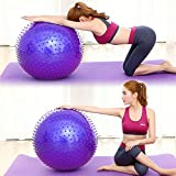 ROUTESUN Yoga Ball, Exercise Ball, Anti-Burst Heavy Duty Pilates Ball Chair, Birthing Ball, Balance Ball with Foot Pump, 65cm 75cm Stability Ball Supports 2000lbs for Home&Office