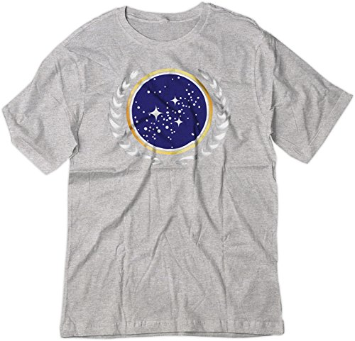 (BSW Youth Star Trek United Federation of Planets Logo Shirt MED Sport Grey)