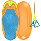 Search : ZUP YouGo Board and Handle Combo, All-in-One Kneeboard, Wakeboard, Wakeskate, and Wakesurf Board for All Ages, Orange