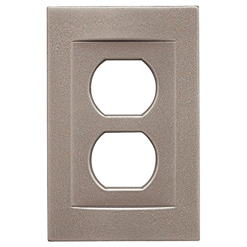 Somerset Collection Contemporary 1-Gang Brushed Nickel Single Duplex Wall - Somerset Outlet