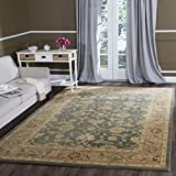 Cheap Safavieh Antiquities Collection AT849B Handmade Traditional Oriental Teal Blue and Taupe Wool Area Rug (8'3″ x 11′)