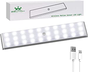 Homelife Led Bars Motion Sensor Lights, 30-LED Wireless Closet Lighting, Under Cabinet Rechargeable Lights, Stick-on Magnetic Motion Sensor Light Indoor for Closet, Kitchen, Stairway