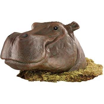 "14""w African Wildlife Hippo Hippopotamus Garden Sculpture Statue Figurine"