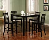 Cheap Brookville 5-Piece Black Counter Dining Room Set