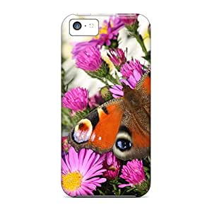 Hot Peacock Butterfly First Grade Tpu Phone Case For Iphone 5c Case Cover
