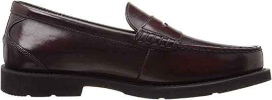 Rockport Shakespeare Circle Burgundy Brush Off, Mocasines para Hombre, Negro, 46 EU