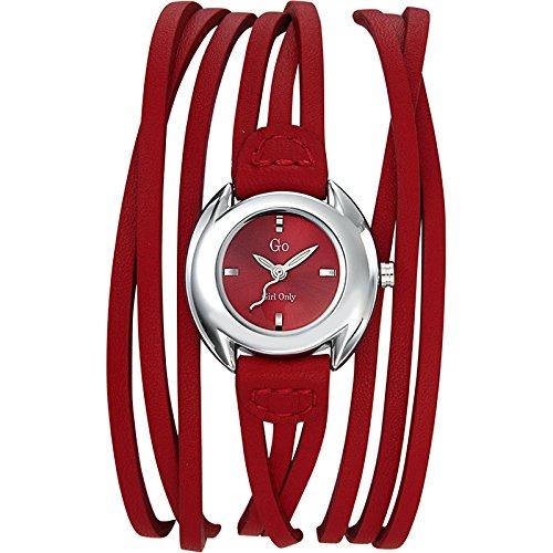 GO Girl Only 696268 - Reloj analógico de cuarzo para mujer con correa de piel, color rojo: Amazon.es: Relojes