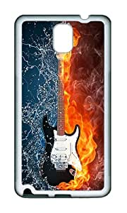 Samsung Note 3 Case,VUTTOO Stylish Creative Guitar Soft Case For Samsung Galaxy Note 3 / N9000 / Note3 - TPU White