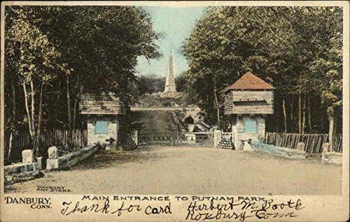 Putnam Park - Main Entrance Danbury, Connecticut Original Vintage Postcard