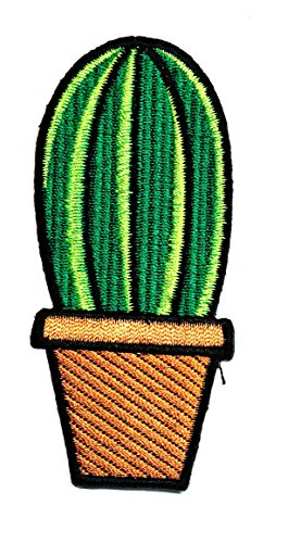 Cactus Costume Pattern (Green cactus Cartoon Movie patch Kid Baby Boy Jacket T Shirt Patch Sew Iron on Embroidered Symbol Badge Cloth Sign Costume)