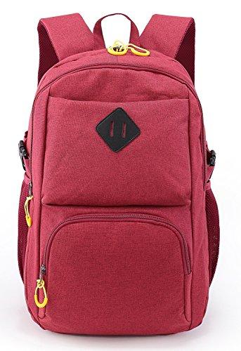 Weekend Shopper Vintage Laptop Backpack College Bookbag School Backpack for Women and Men Fit 15.6 inch Laptop Red