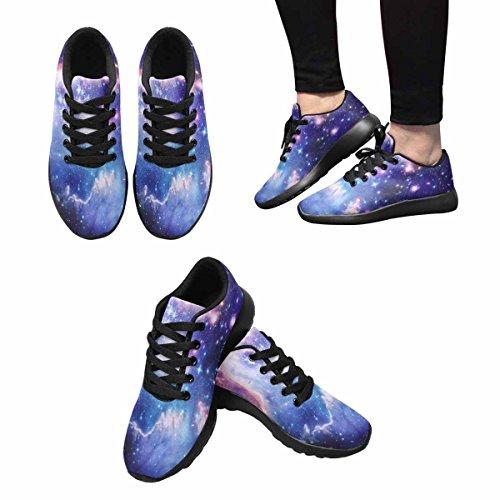 Interessante Womens Jogging Running Sneaker Leggero Go Easy Walking Comfort Sportivo Scarpe Da Atletica Astratto Illustrazione Con Un Bellissimo Star Space Nebulosa Multi 1