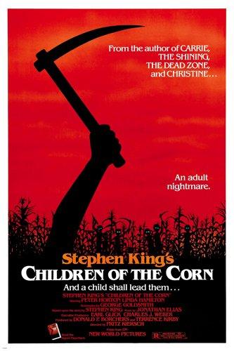 stephen King's children Of The Corn movie poster linda Hamilton horror reproduction, not an