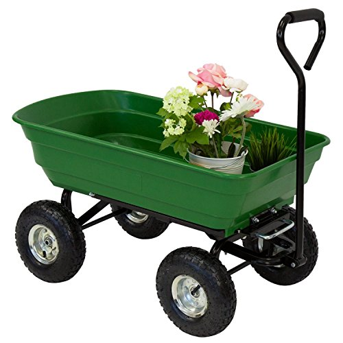 ArmPro Garden Dump Cart Dumper Wagon, Heavy Duty 600 Lbs Wheel Barrow Utility Cart Review