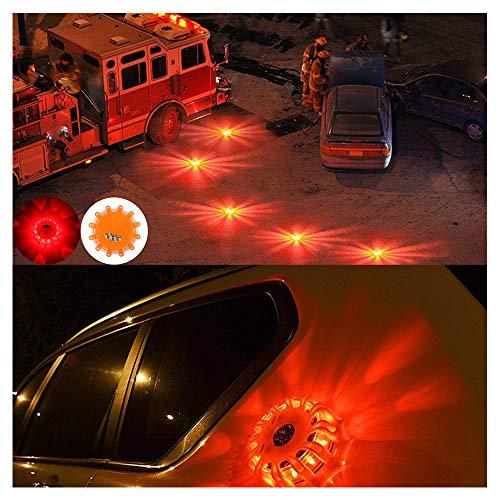 - ️ Yu2d ❤️❤️ ️LED Road Flares Emergency Lights Roadside Warning Car Safety Flare Kit for Vehic