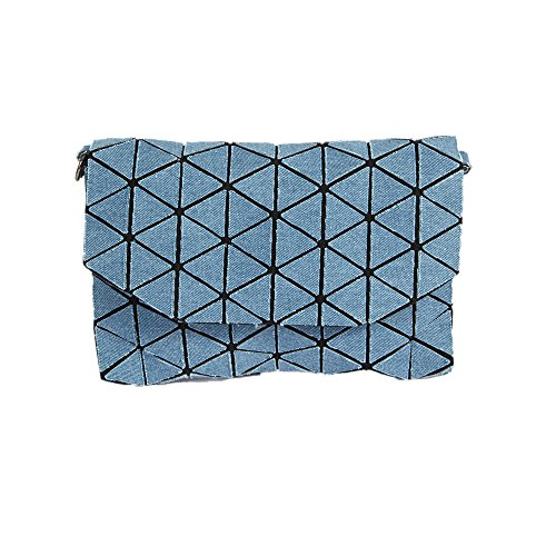 Bleu Sacs Sacs épaule Sac à Main métal KAISIBO K3160 Chaîne géométrique en à bandoulière Messenger Main et wXxUwqp1a