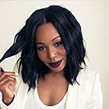 Ten Chopstics Short Human Hair Lace Wig for Black Woman Loose Wave Brazilian Virgin Hair Cheap Lace Front Wigs Glueless Short Bob Full Lace Wig with Baby Hair Natural Wavy On Sale