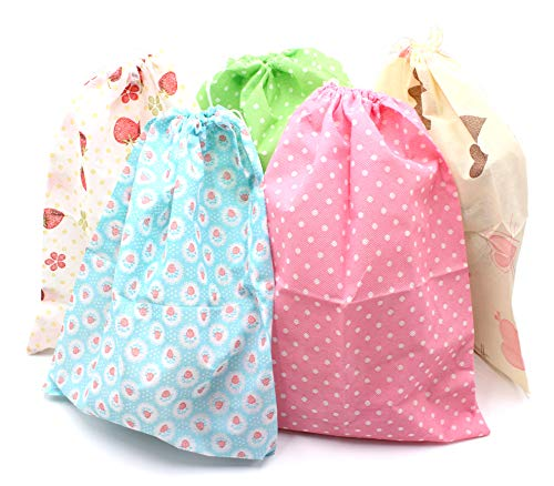 SPADORIVE 10 Drawstring Portable Storage Shoe Outdoor Travel Bag Dustproof Gift Bags (5 Colors)