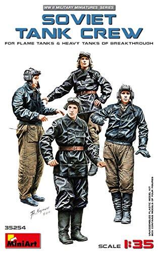 MiniArt 35254 Soviet Tank Crew for Flame Tanks & Heavy Tanks of Breakthrough, WWII Military Miniatures 1/35 Scale Model ()